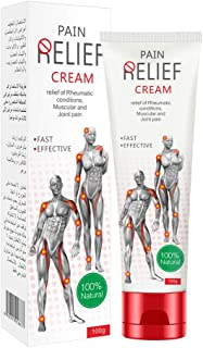 Amareu Pain Relief Cream for Arthritis, Topical Pain Relief Gel, Fast Acting and Long Lasting Cooling Pain Reliever Cream for Muscle Pain, Joint Pain, Back Pain