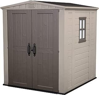 KETER Factor 6x6 Resin Outdoor Storage Shed, Beige/Brown