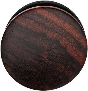 Zaya Body Jewelry Pair of Organic Sono Wood Single Flare Hand Carved Ear Plugs Gauges 0g 00g 1/2 7/16 9/16 5/8 3/4 7/8 1 I...