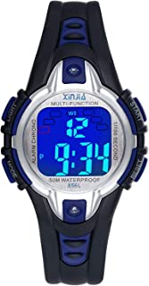 Kids Watch Digital for Girls Boys,7 Colors LED 50M Waterproof Wrist Watches for Child Sport Outdoor Multifunctional Wrist Watches with Stopwatch/Alarm