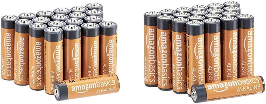 亚马逊基础碱性电池组合包装  aa 20-pack,aaa 20-pack(可以单独发货)