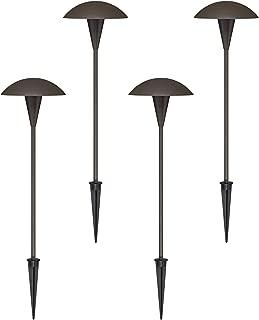 4 Pack Large Mushroom Bronze LED Landscape Path Light - John Timberland
