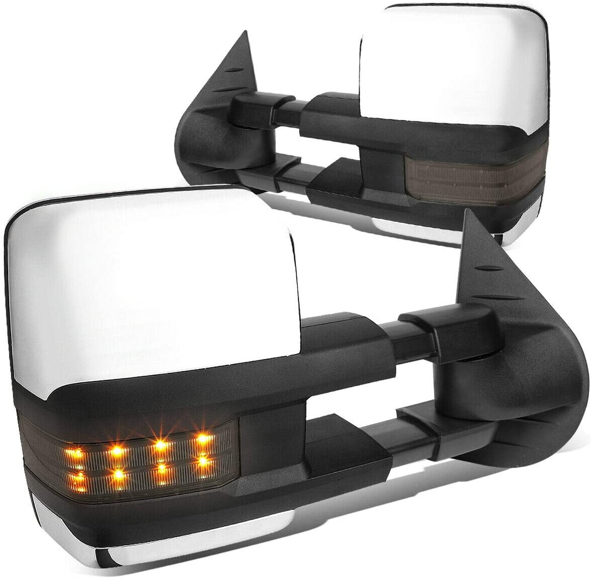 cskj Compatible withChrome gift Large special price Powered+Heat+Smoked M LED Side Towing