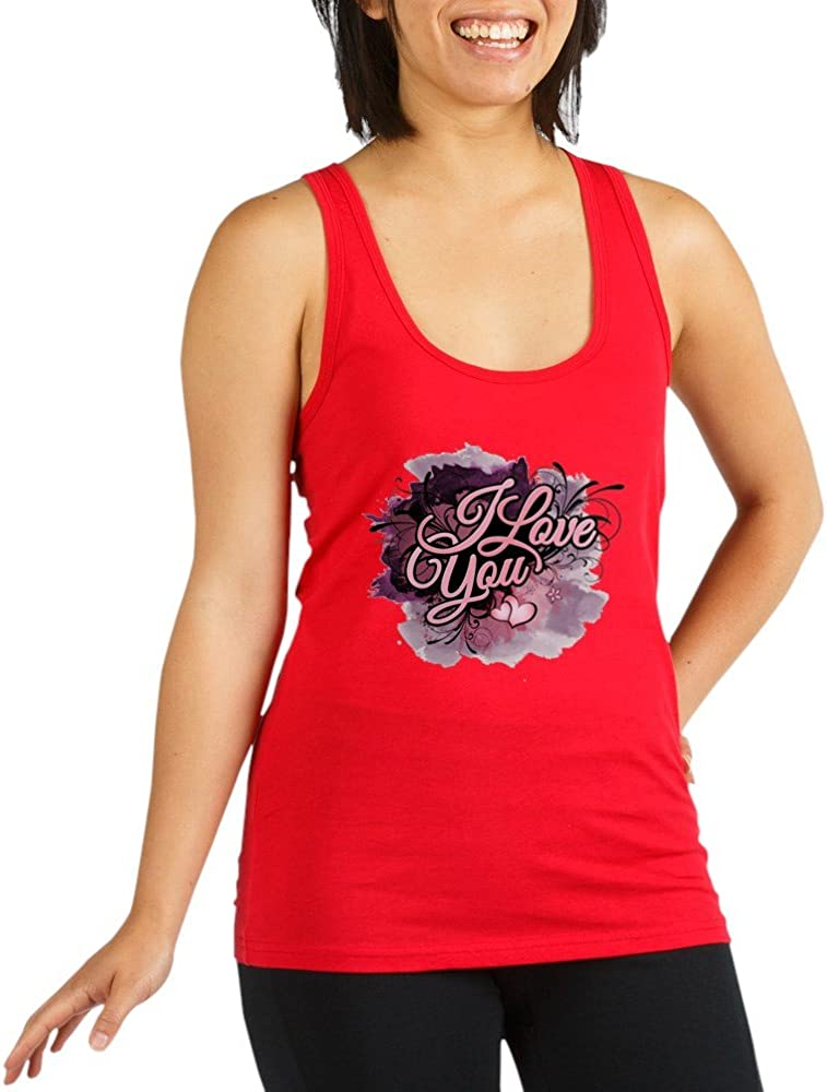 Truly Teague Women's Racerback Tank 5% OFF Top You Dk Love Purple Flo New product!! I