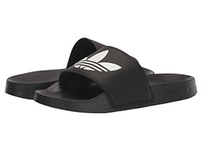 adidas Originals Kids Adilette Lite (Little Kid/Big Kid) (Black/White/Black) Kids Shoes