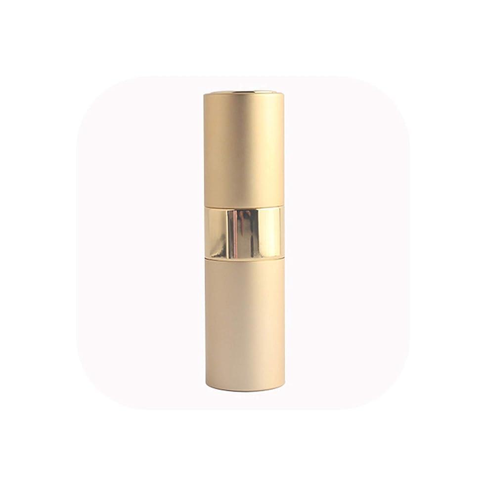 1PCS高品質15mlのミニアルミ香水瓶空の充填スプレー香水アトマイザーロータリーボトル、ゴールド、メタル