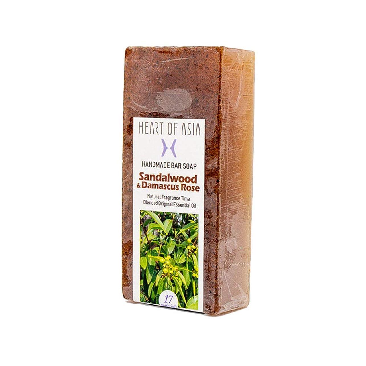 ラインナップ抑制する地球香水のようなフレグランス石けん HANDMADE BAR SOAP ~Sandalwood&Damascus Rose~ (単品)