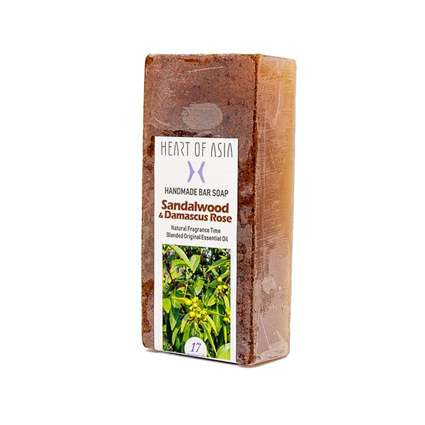 トラフめったに溝香水のようなフレグランス石けん HANDMADE BAR SOAP ~Sandalwood&Damascus Rose~ (単品)