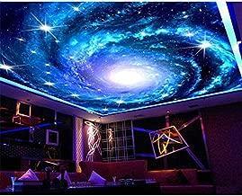Raiev Large Custom Wallpaper Dream Galaxy Star Sky Ceiling Mural 3D Living Room Bedroom Ceiling Wallpaper -B