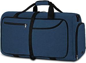 NEWHEY Reistas, groot, 40 liter, opvouwbare reistas, lichte sporttas voor mannen met schoenenvak voor weekends, heren en d...
