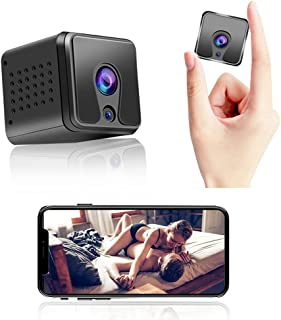 Mini Spy Camera 1080P , Hidden Camera with Audio Video Recording Live Wireless Nanny Camera with Night Vision and Motion D...