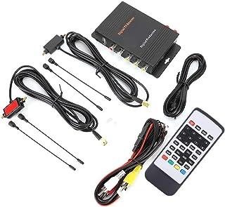 Qii lu TV Tuner Box, Powerful and Functional Digital TV Receiver DVB-T MPEG-4 Dual Antenna Tuner Box Auto Accessories