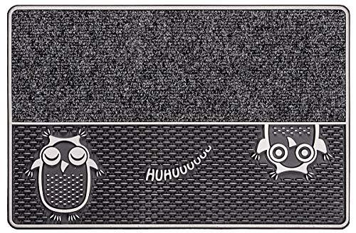 CarFashion 322360B Pur|DualClean, Fussmatte, Türmatte, Fußabtreter, Schmutzfangmatte, Sauberlaufmatte, Eingangsmatte für Innen und Aussen, Anthrazit-Metallic Oberfläche, Größe ca. 59 x 39 cm