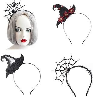 JoinBo Halloween 4PCS Spider Web Headband Witch Hat Headband Headdress Women's Wear Halloween Makeup Party Party Costume Ball Costume Accessories