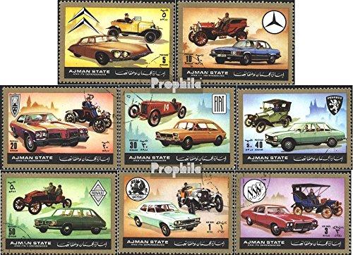 Prophila Collection Ajman 1418-1425 (Completa Edizione) 1972 Automobile Una Volta e Adesso (Francobolli per i Collezionisti) Traffico Stradale