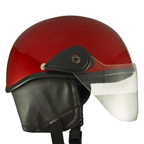 Anokhe Collections Racing Master Half Helmet (Red Glossy, Large)