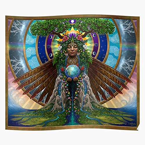 Pagan Faerie Fantasy Wicca Mythology Gaia Goddess Fairy I Fsgshaniyan - Wall Art Posters Printed Modern for Family Bedroom Decor