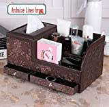 Natoo Leather TV Remote Control Holder Organizer/Controller TV Guide Mail/CD...