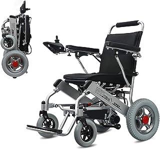 Sillas de ruedas eléctricas para adultos Ligera Silla de ruedas eléctrica plegable y móvil seguro 360 ° Joystick Todo Terreno Silla plegable de la energía dual compacto Movilidad Motor cómodo carro de
