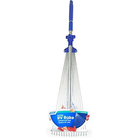 """Camco Telescopic Collapsible Rake - Expands to 60"""" Long with 22"""" Width Rake 