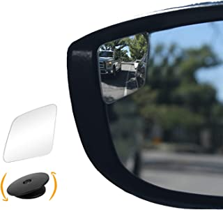 """Rhombus 4"" Blindspot Mirror by Safe View Company - Safer Lane Changes, Frameless Design, HD Glass, Convex Mirror Seamlessly Contours to Your Car's Side Mirror, Easy Installation (63x50mm) (2 Pack)"