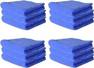 NUOLUX マイクロファイバー クリーニングクロス 強力吸水 速乾 ふきん 食器用 洗車用 業務用 家庭用 掃除用品 30×30cm 12枚入(ブルー)