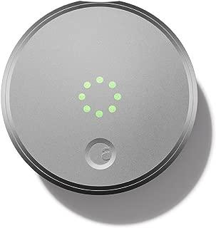 August Smart Lock スマホでキーレス 住まいのセキュリティ[並行輸入品] (Silver)