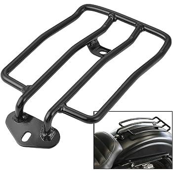 supporto portapacchi portapacchi posteriore per moto adatto per parti modificate XL883//1200 X48 nero eArgento Argento Supporto bagagli posteriori Tbest opzionale