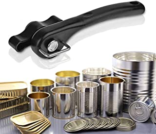 Bottle Openers Professional Multifunction Stainless Steel Safety Side Cut Manual Can Tin Opener (Color : Black)