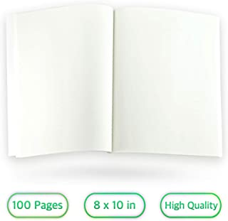 Krisp® Blank Book for Writing and Drawing - White Cover Minimalist Journal for Kids and Adults (New)