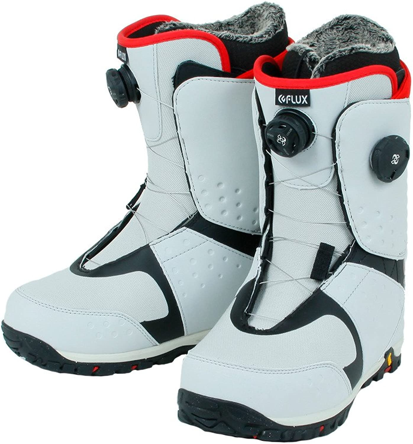 Flux OmniBoa Men's 2017 18 Model Snowboard Boots, White, Size 10.5