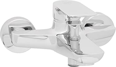 Remer Cold and Hot Water Bathroom Tap, Silver with a Smooth Design