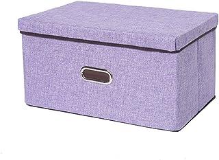 BKHBJ Organisateur de vêtements Placard Coton Lin Chambre Maison conteneur Grand Pliage Divers Articles de Rangement boîte...