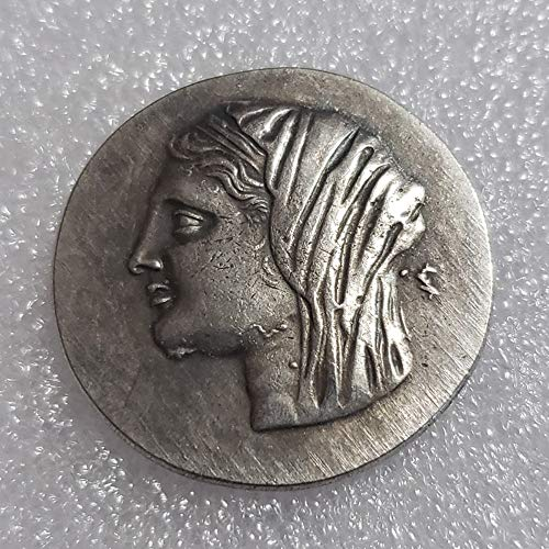 Seltene, antike, antike Athen, griechische Silbermünze, Drachm, Atena, Griechenland, Pferde, Drachma, silberfarben