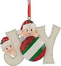 BestPysanky Joyful Family of 2 Hand Painted Resin Christmas Ornament