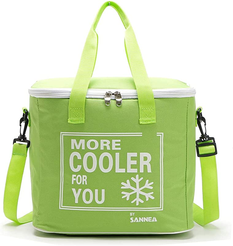 Insulated Cooler Lunch Bags With Zipper And Shoulder Strap To Keeping Food Hot Or Cold For Office Work School Picnic Camping Beach BBQ Shopping Hiking 20 L