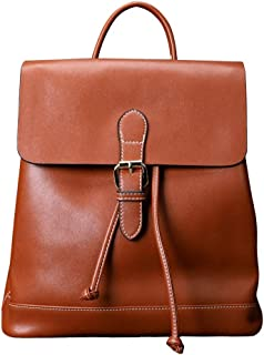 Xuan Yuan Backpack - Women's PU Soft Leather Backpack, Multi-Function Large-Capacity Package A4 Magazine IPAD Business Bag College Light Casual Retro Backpack Backpack (Color : Brown)