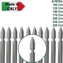 Palo a T altezza 100 CM per recinzione PLASTIFICATO paletto per recinzione in ferro sezione T mm 30x30x3 Verde NEXTRADEITALIA Confezione da 10PZ