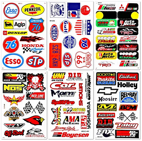 Motorsport Cars Nos Off-Road Oil NHRA Drag Racing Lot 6 Graphic Vinyl Decals Stickers D6054