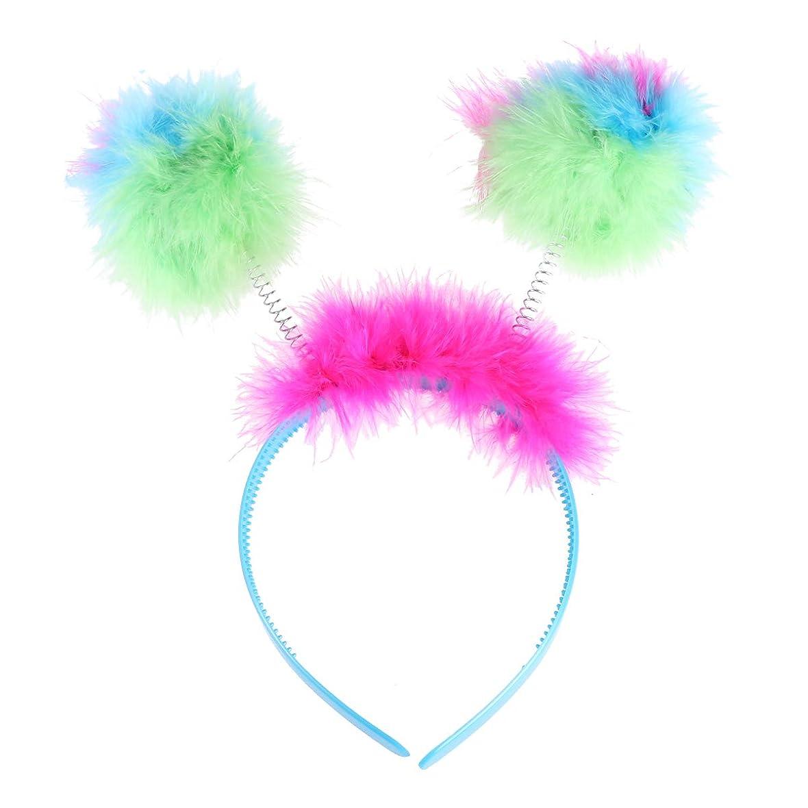 振動する観点ひらめきAmosfun子供ぬいぐるみボールヘッドバンド愛らしいヘアフープアクセサリーコスプレパフォーマンス衣装仮面舞踏会誕生日パーティー