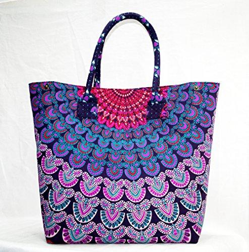 silkroude handgefertigte Authentic Türkisch Kelim Duffle Bag Teppich Bag echtem Ziegenleder Futter