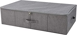 iwill CREATE PRO Under Bed Storage Containers, Underbed Shoe Storage Organizer Box with Lids, Blankets, Cloth Storage Bins. Dark Gray
