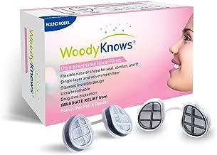 Filtros Ultra Transpirables para la Alergia de la Nariz de WoodyKnows - Polen, Polvo, Pelo de Mascotas, Caspa, Moho, Alivio y Ayuda para las Alergias Estacionales