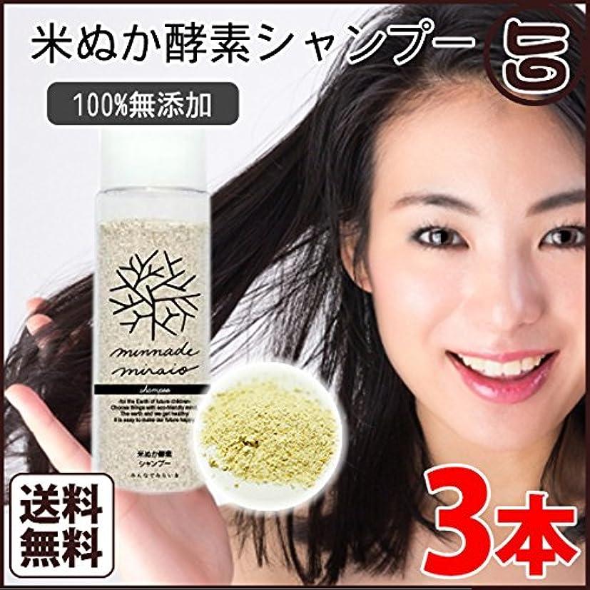 気晴らし申請者バラバラにするみんなでみらいを 米ぬか酵素シャンプー 105g×3本