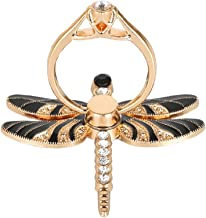 Nurbo Cute Dragonfly Shape Phone Ring 360 Degree Rotating Ring Grip Anti Drop Finger Holder for iPhone iPad and All Cellphone (Black)