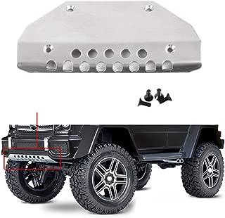Yiwa Placa Protectora de Armadura de chasis Frontal de Acero Inoxidable TRX4 para 1//10 RC Crawler Traxxas TRX-4 G500