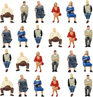 P4804 24 pcs All Seated Figures O Scale 1:50 Painted People Model Railway New