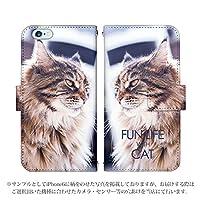 Galaxy Note8 SC-01K ケース [デザイン:3.長毛猫/マグネットハンドあり] 猫 ネコ ねこ 手帳型 スマホケース カバー ギャラクシー sc01k