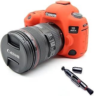 Suave silicona goma funda para cámara funda para Canon EOS 5D45d mark IV Protector funda piel de cuerpo para cámara Canon 5d 4lente Pen