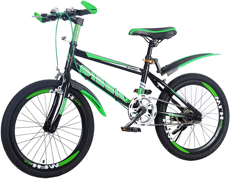 de moda SJSF Y Bicicleta Infantil 18 20 20 20 22 Pulgadas Bicicleta para Niños Bicicleta de Montaña Bicicleta verde con Frenos de Disco,20   varios tamaños